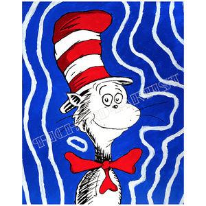 NWT Cat in the Hat Art PRINT Dr. Seuss Kids Decor